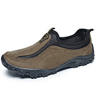 Herren Loafers & Slip-Ons Komfort Leder Wildleder Frühling Herbst Sportlich Normal Wandern Komfort Kombination Flacher AbsatzSchwarz Grau