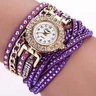 Women's Fashion Watch / Wrist watch / Bracelet Watch Quartz Punk / Colorful PU BandVintage / Sparkle / Candy color / Bohemian / Charm /