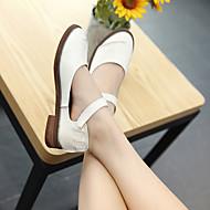 נשים-נעליים ללא שרוכים-PU-רצועת קרסול-לבן / קפה-קז'ואל
