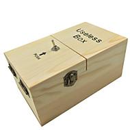neje fa haszontalan teljesen összeszerelt gép box játék - világosbarna
