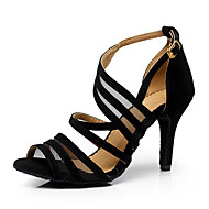 Sapatos de Dança(Preto) -Feminino-Personalizável-Latina / Jazz / Tênis de Dança / Moderna
