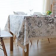 ריבוע Toile כיסויי שולחן , פשתן חוֹמֶר שולחן אוכל במלון / שולחן Dceoration