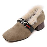 Homme-Bureau & Travail / Décontracté-Noir / Kaki-Gros Talon-Confort-Chaussures à Talons-Polyester