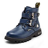 בנים-מגפיים-PUשחור חום כחול-יומיומי-עקב שטוח