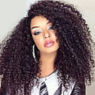 8A Peruvian Kinky Curly Wigs Glueless Lace Front Human Hair wigs For Women