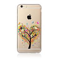 のために クリア / パターン ケース バックカバー ケース 樹木 ソフト TPU のために AppleiPhone 7プラス / iPhone 7 / iPhone 6s Plus/6 Plus / iPhone 6s/6 / iPhone SE/5s/5 /