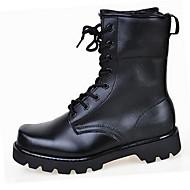 Herre-LærKomfort-Støvler-Fritid-Svart