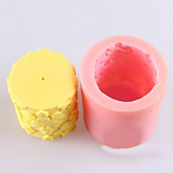 flores em forma de vela molde, moldes de sabão MoonCake molde bolo de chocolate fundido silicone, ferramentas de decoração bakeware