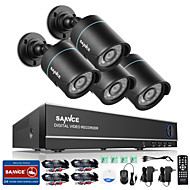 SANNCE® 4CH 4 in 1 720P HDMI AHD CCTV DVR 4PCS 1.0 MP IR Outdoor Security Bullet Camera Surveillance System