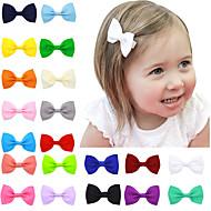 20 цветов / комплект волос лук зажимы младенца волос луки аксессуары для волос детей