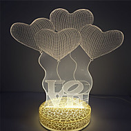 melhor presente para as crianças amo o design do efeito 3d levou noite luz