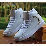 Herre-PUKomfort-Sneakers-Fritid-Svart / Hvit