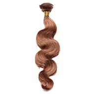 100g / pc 바디 웨이브 인간의 머리 10-18inch 중간 적갈색 인간의 머리카락 직물