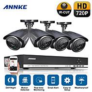 annke 4 canais HD DVR vídeo 720p ir ao ar livre distância do IR (30m), sistema CCTV casa câmera de segurança