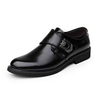Men's Oxfords / Amir New Style / Comfort Leather Casual / Business / Buckle / Hook & Loop / Slip-on Black / Brown Walking