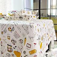 Carré Avec motifs Nappes de table , Lin Matériel Hôtel Dining Table / Tableau Dceoration