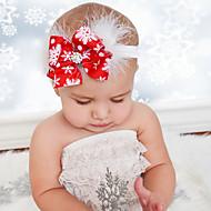 bébé noël filles fleur bandeau plumes arc de neige hairband bambin bébé chapellerie joyeux accessoires cheveux noël