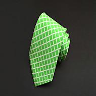 Gravata (Verde , Poliéster) Quadriculado