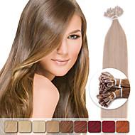 neitsi 20 '' 50g 1g / s mikrorenkaat keratiini kynsien kärki ihmisen hiusten pidennykset värikäs highlight Remy hiukset