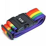 goede kwaliteit regenboog kleuren verstelbare bagage koffer band binden riem met een wachtwoord vergrendelen als reiskoffer riem bagage