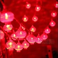 lumière chaîne 10m couleur rouge 100 dirigé (220v)