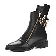 Støvler-KunstlæderDamer-Sort Mørkebrun-Formelt Fritid-Lav hæl