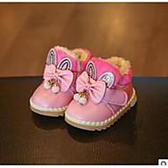 לבנות תינוק-מגפיים-סינטתי-נוחות-ורוד אדום-קז'ואל