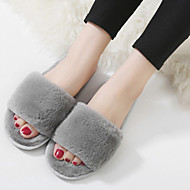 Women's Slippers & Flip-Flops Fall Slingback Polyester Casual Flat Heel Others Black Pink Gray Others