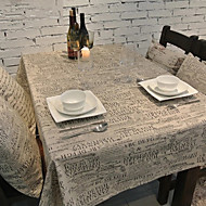 Rectangular Patterned Table Cloth , Linen / Cotton Blend MaterialHotel Dining Table / Wedding Party Decoration / Wedding Banquet Dinner /