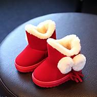 Para Meninas Bebê-Botas-Conforto-Rasteiro-Preto Vermelho Cinza-Courino-Casual