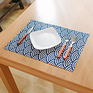 Carré Avec motifs / Fleur / Nautique Sets de table , Coton mélangé Matériel Hôtel Dining Table / Tableau Dceoration