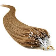 """20"""" brun doré (# 12) 100s boucle micro extensions de cheveux humains"""