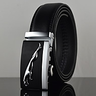 Men's Black Jaguar Icon Automatic Buckle Waist Belt Work/Casual Alloy/Leather All Seasons