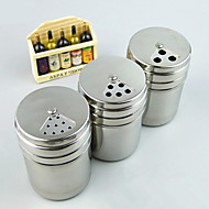 1PC Rotary Seasoning Bottle With Multi Use Pepper Pot Stainless Steel Seasoning Pot Barbecue Tool (Style random)