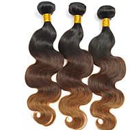 Człowieka splotów włosów Włosy brazylijskie Naturalne fale 3 elementy sploty włosów