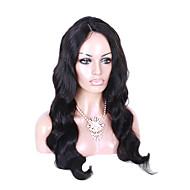 Plná krajka přírodní volná vlna paruka černá barva vlasové krajky s baby vlasy pro černé ženy