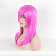Long Straight Pink Color Synthetic Wigs For Women Fashion Party Cosplay Wigs