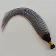 vente chaude gris argent hombre je pointe des extensions de cheveux humains 1b cheveux raides gris cheveux gris hombre brazilian