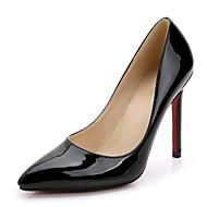 T-pántos-Stiletto-Női cipő-Magassarkúak-Esküvői Ruha Party és Estélyi-Lakkbőr-Fekete Rózsaszín Piros Fehér Ezüst Arany Vörös Görögdinnye