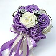 Svatební kytice Kulatý Růže Kytice Svatba Párty / večerní akce Satén Korálkový Pěna imitace drahokamu