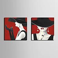 Estampados de Lonas Esticada Conjuntos de Lona Pessoas Fantasia Clássico Tradicional,2 Painéis Horizontal Impressão artísticaDecoração de