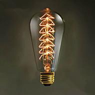 מקור E27 st64 40W עץ חג המולד אדיסון יצירתי אור