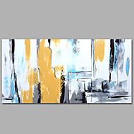 Peint à la main Abstrait / Fantaisie Peintures à l'huile,Modern / Méditerranéen Un Panneau Toile Peinture à l'huile Hang-peint For