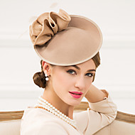 Women's Feather / Polyester / Wool Headpiece-Wedding / Special Occasion / Casual Fascinators / Hats 1 Piece
