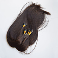 i kärki fuusio keratiini hiustenpidennykset neitsyt hiukset kaksinkertainen laadittu i torjuen hiustenpidennykset 18inch tummanruskeita
