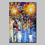 Ručno oslikana Ljudi Apstraktni pejsaži ulja na platnu,Moderna Jedna ploha Platno Hang oslikana uljanim bojama For Početna Dekoracija