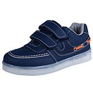 レディース-アウトドア カジュアル アスレチック-PUレザーコンフォートシューズ アイデア 靴を点灯-アスレチック・シューズ-ホワイト ブラック ブルー