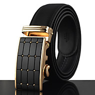 Men's Gold / Silver Automatic Buckle Waist Belt Work/Casual Alloy/Leather All Seasons