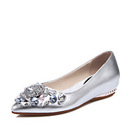 Women's Flats Spring / Summer / Fall Others Leatherette Wedding / Party & Evening / Dress Flat Heel Sparkling Glitter Silver / Gold Others