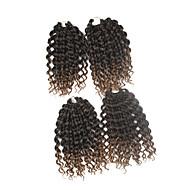 Pre-bue hekles Braids Hårforlengelse 9Inch Kanekalon 1 Package For Full Head Strand 170g gram Hair Braids